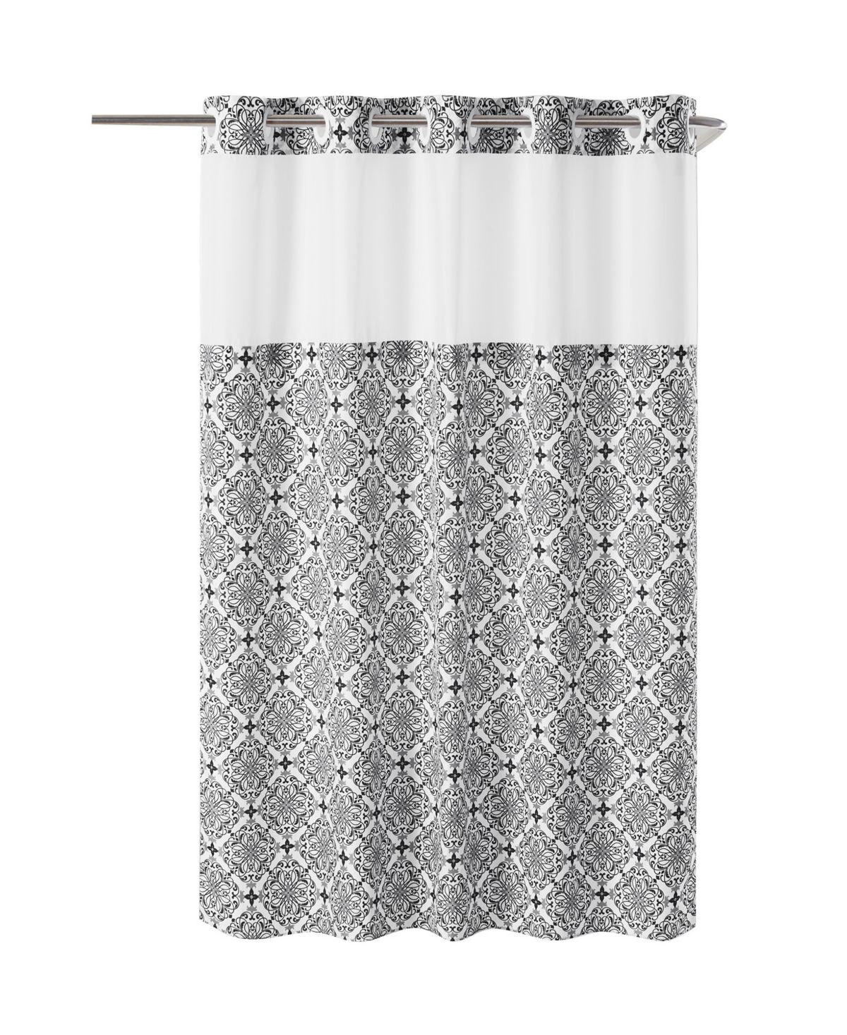 Hookless Vervain Shower Curtain Reviews Shower Curtains Bed Bath Macy S Curtains Baby Room Lighting Hookless Shower Curtain