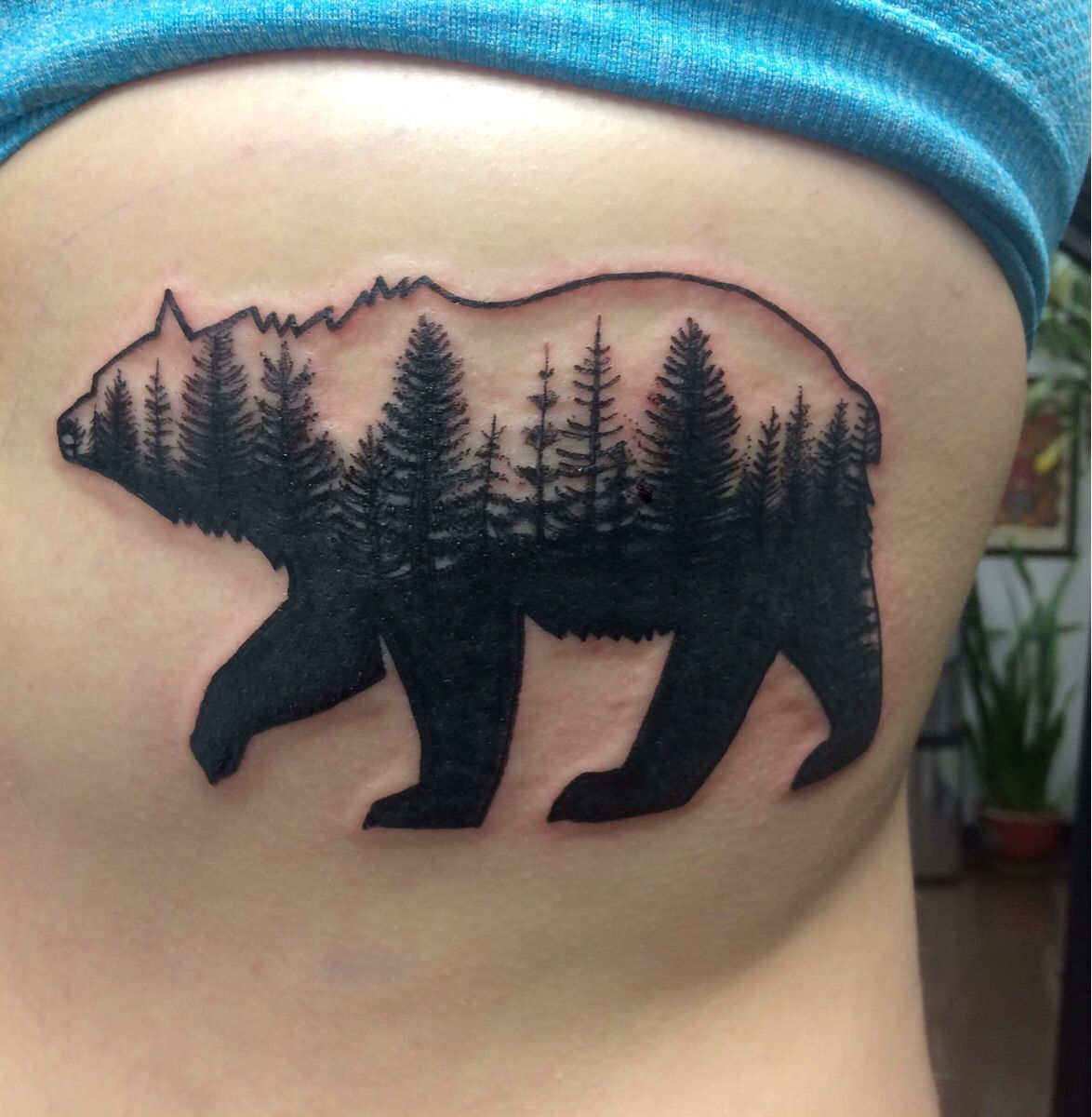 First tattoo my bear done by andy howl at howl gallery for Tattoo fort myers