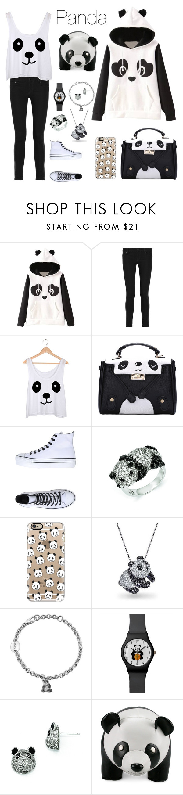 """Panda ♣️"" by natalialovesnutella12 ❤ liked on Polyvore featuring Garcia, Pierre…"