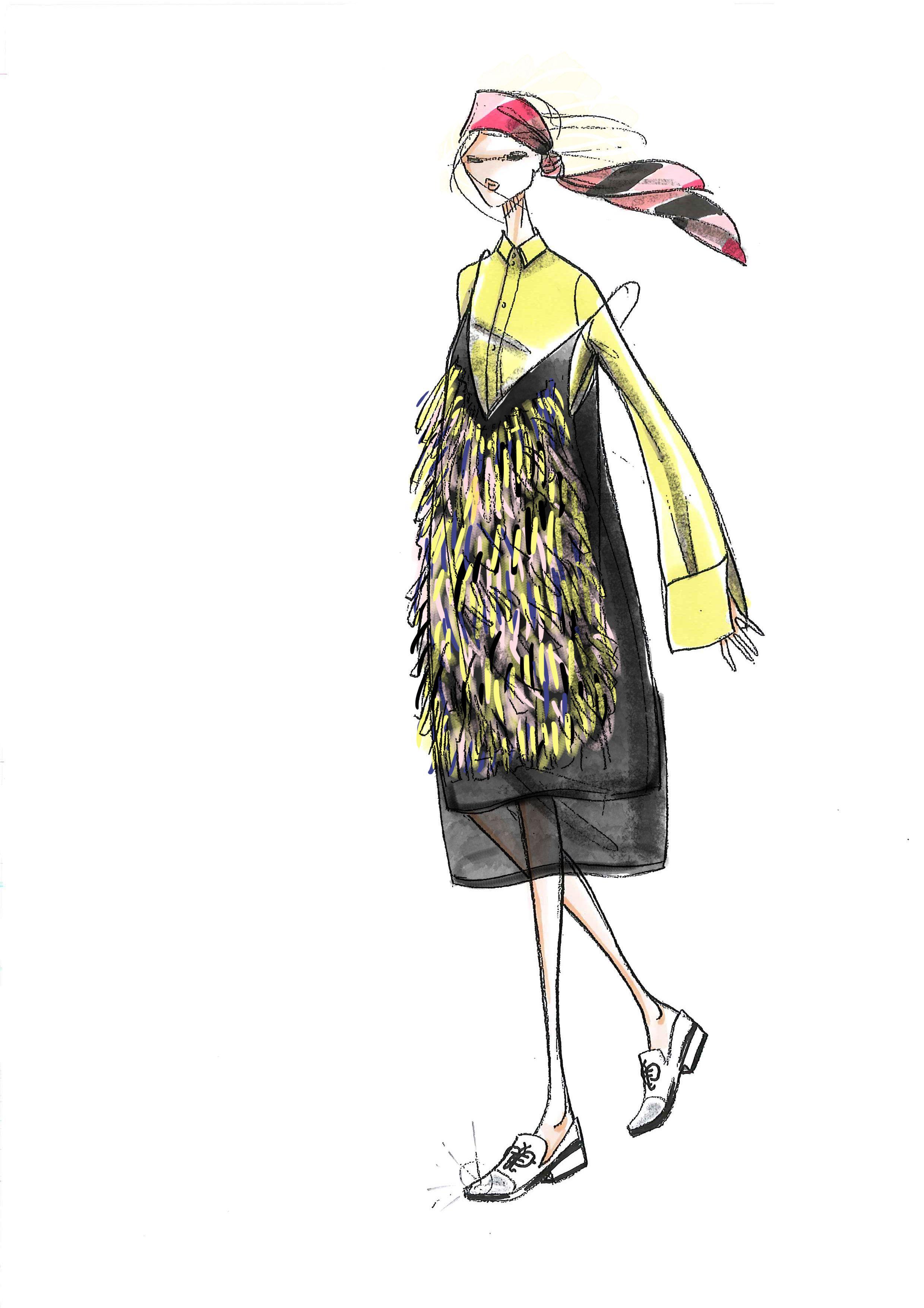 Sketch for emilio pucci by arianna mereu ariannamereuwordpress