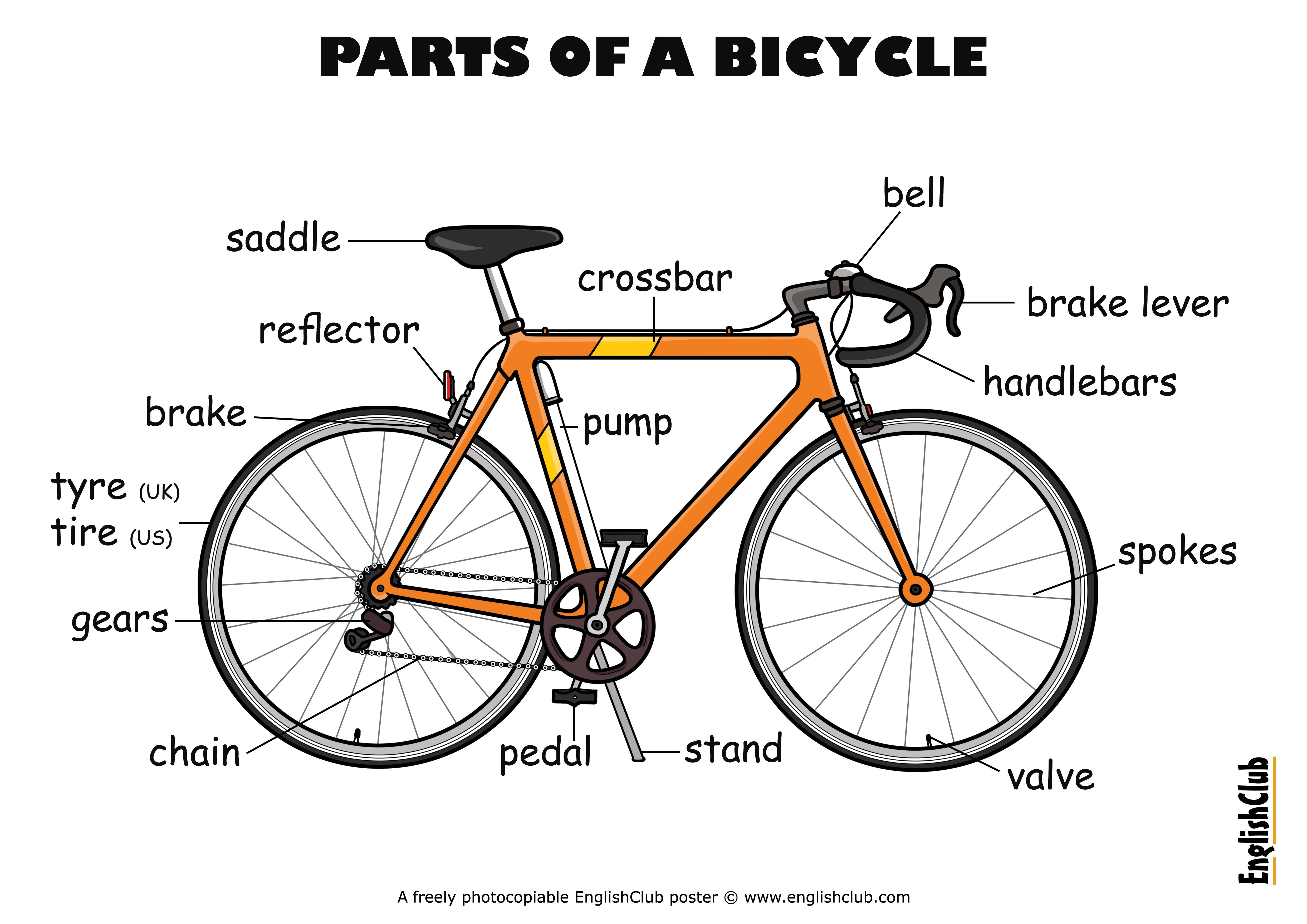 Bicycle Parts Vocabulary