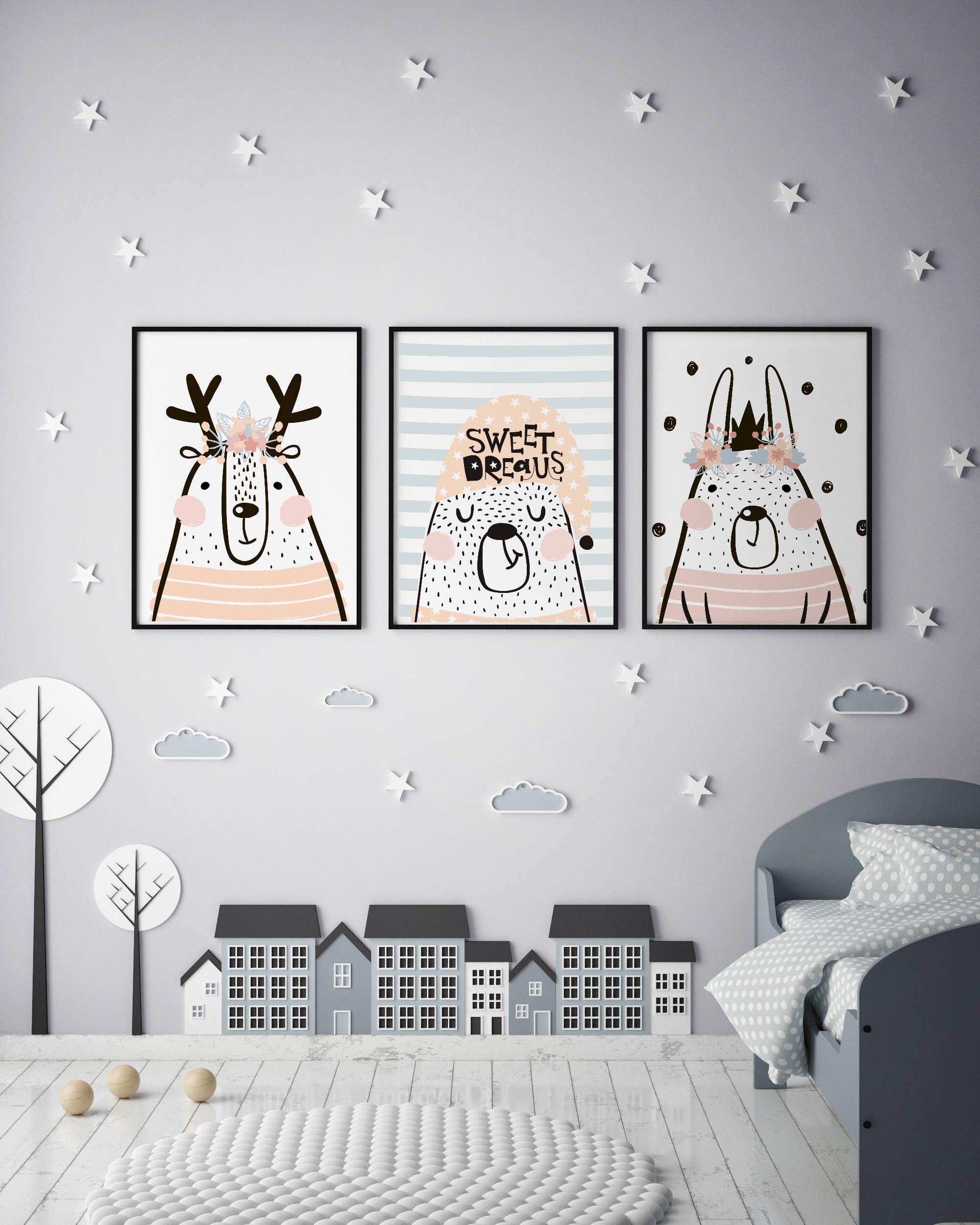 Animal Nursery Decor Wall Art Printable Prints Safari