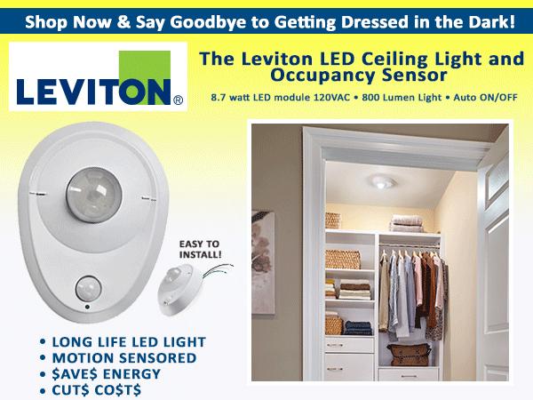 Check Out Ceiling Occupance Sensors From Topbulb Closet Designs Light Sensor Closet Lighting