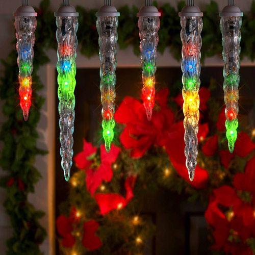 Lightshow 10 Count Led Shooting Star Icicle Christmas Lights