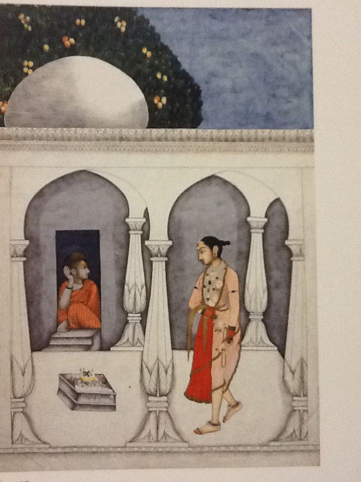 A Visit to a Shrine, 1740  A Hindu woman visits a shrine