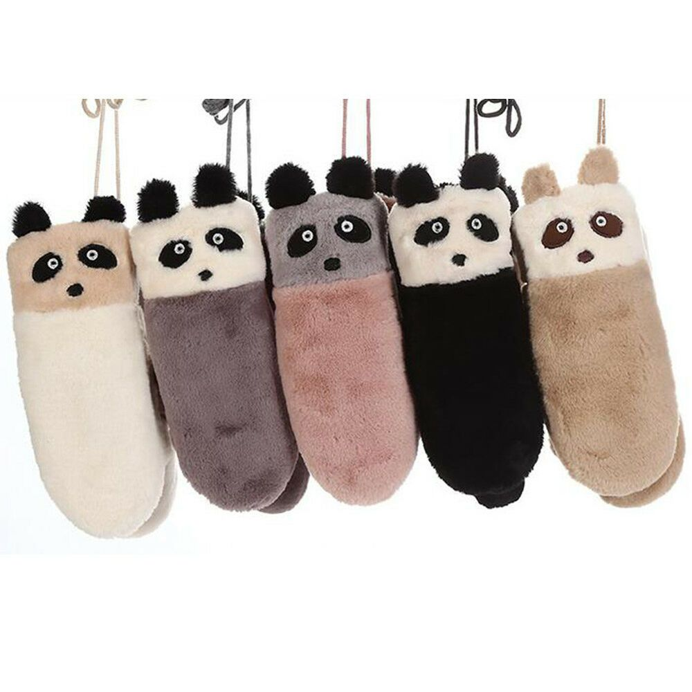 bfb056eae798f Women Winter Mittens Hang Neck Fingerless Gloves Ourdoor Warm Cute Cartoon   fashion  clothing  shoes  accessories  womensaccessories  glovesmittens  (ebay ...