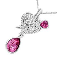 88853291fbbe9 Pugster Heart With Clear Crystal And Arrow Dangle October Birthstone ...