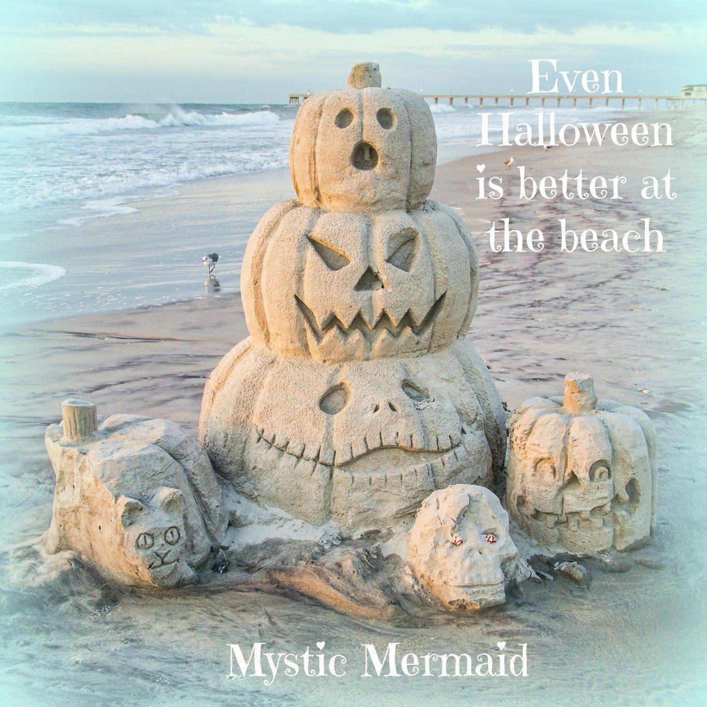 Happy Halloween At The Beach Coastal Fall Fall Beach Sand