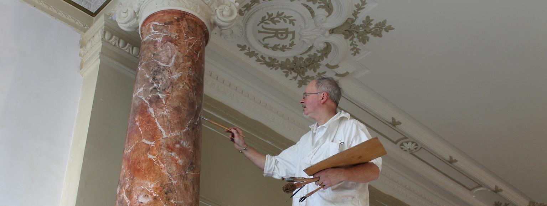 Faux marbres faux bois fresques trompe l 39 oeil peintures d coratives faux pinterest marbles for Peintre decorateur