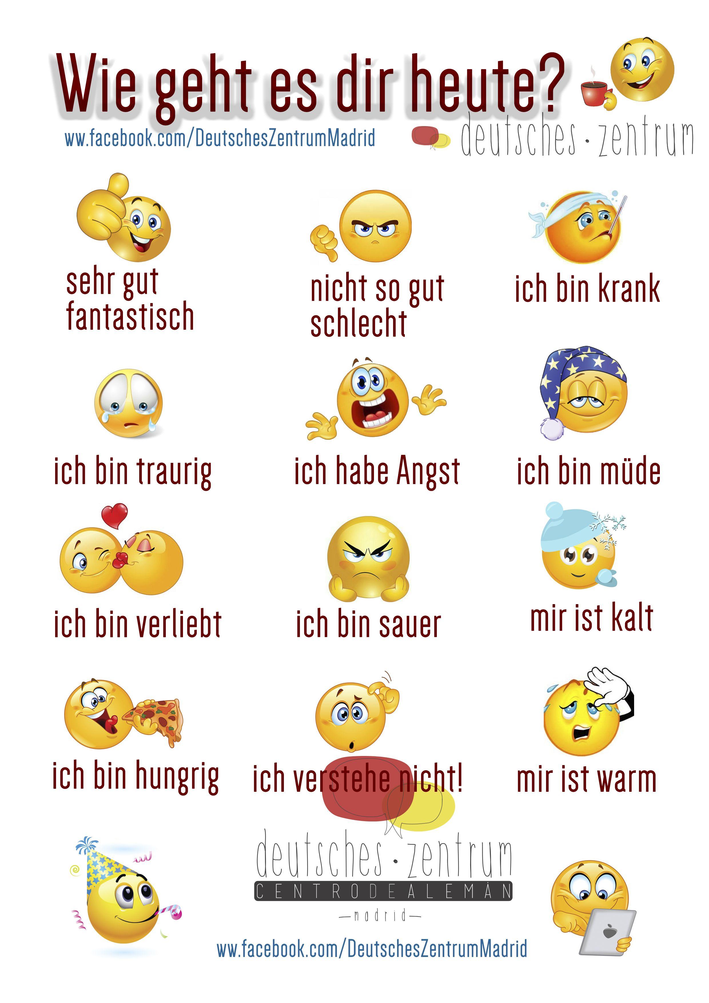 Gefühle Deutsch Wortschatz Grammatik Wortschatz Deutsch