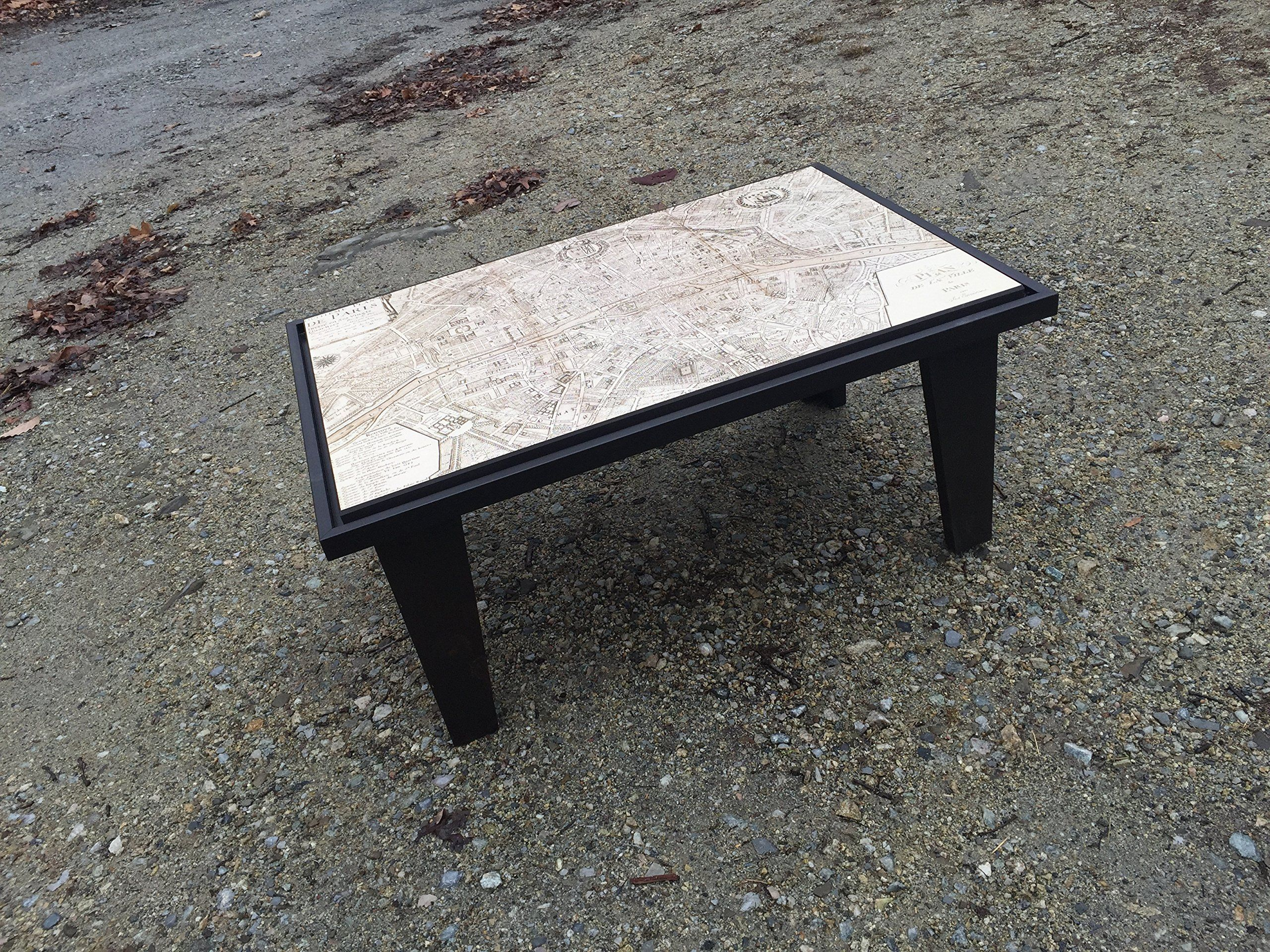 Tapered Coffee Table Legs Old London Map Coffee Table This Coffee Table Is Made From A