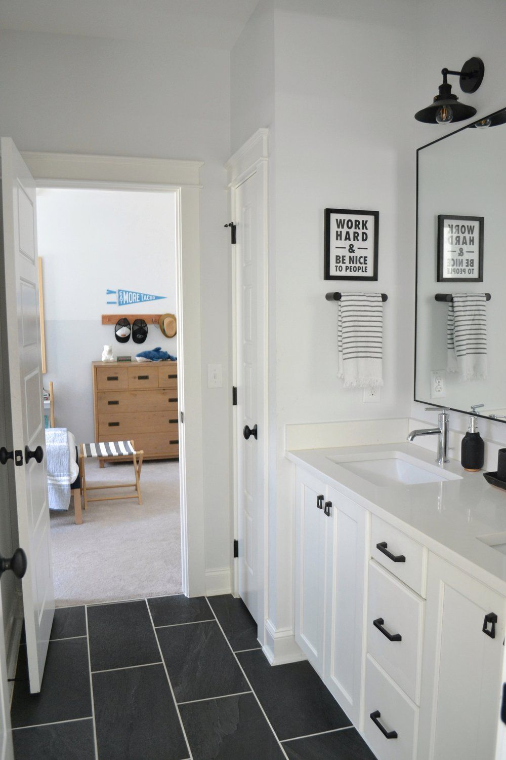 A Black and White Bathroom That Never Gets Old