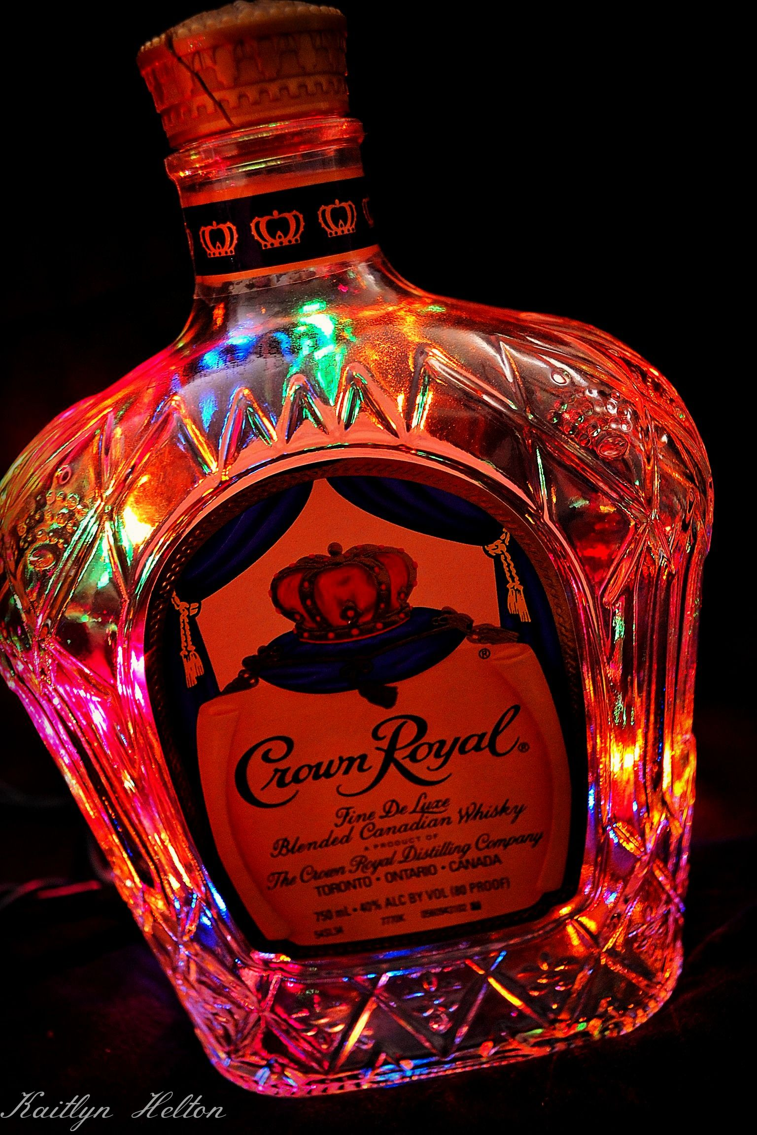 Crown Royal By Kaitlyn Helton Vodka Liquor Liquor Bouquet Crown Royal Bottle