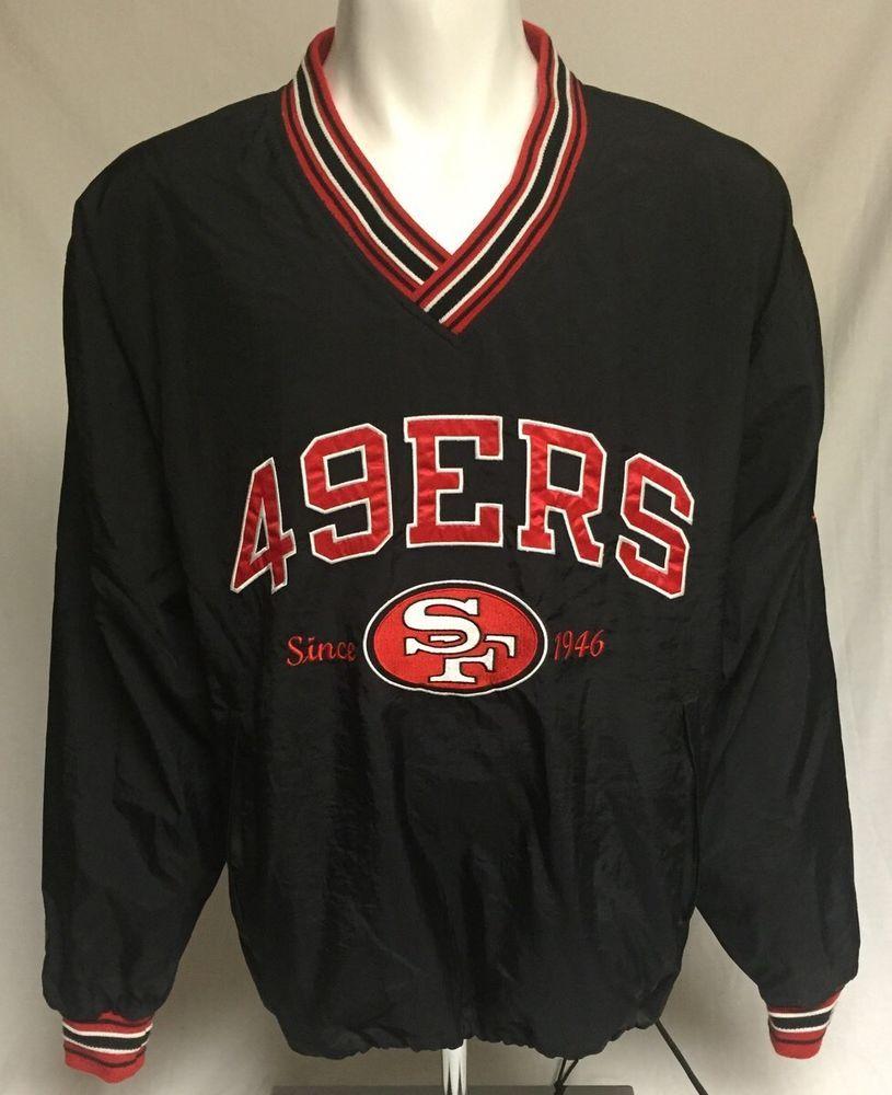 info for 4b631 2d245 San Francisco 49ers Black Red Large Champion Windbreaker ...