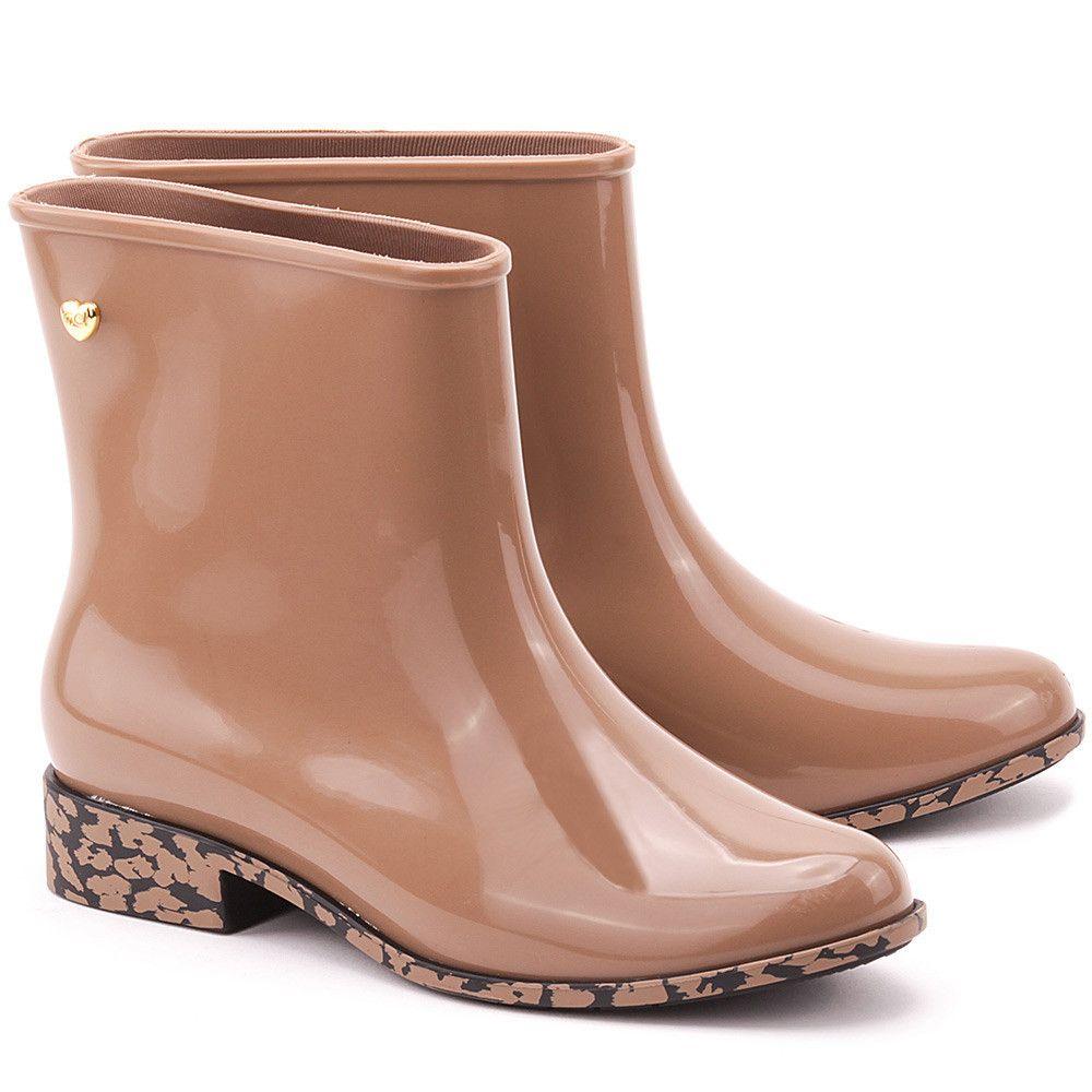 Mel By Melissa Goji Berry Brazowe Gumowe Kalosze Damskie Buty Kalosze Kobiety Mivo Rubber Rain Boots Rain Boots Boots