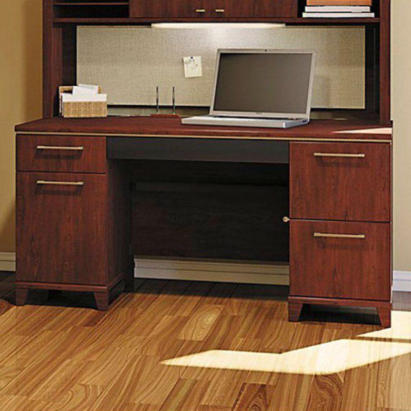 Bush Enterprise Commercial 60 Inch Double Pedestal Computer Desk
