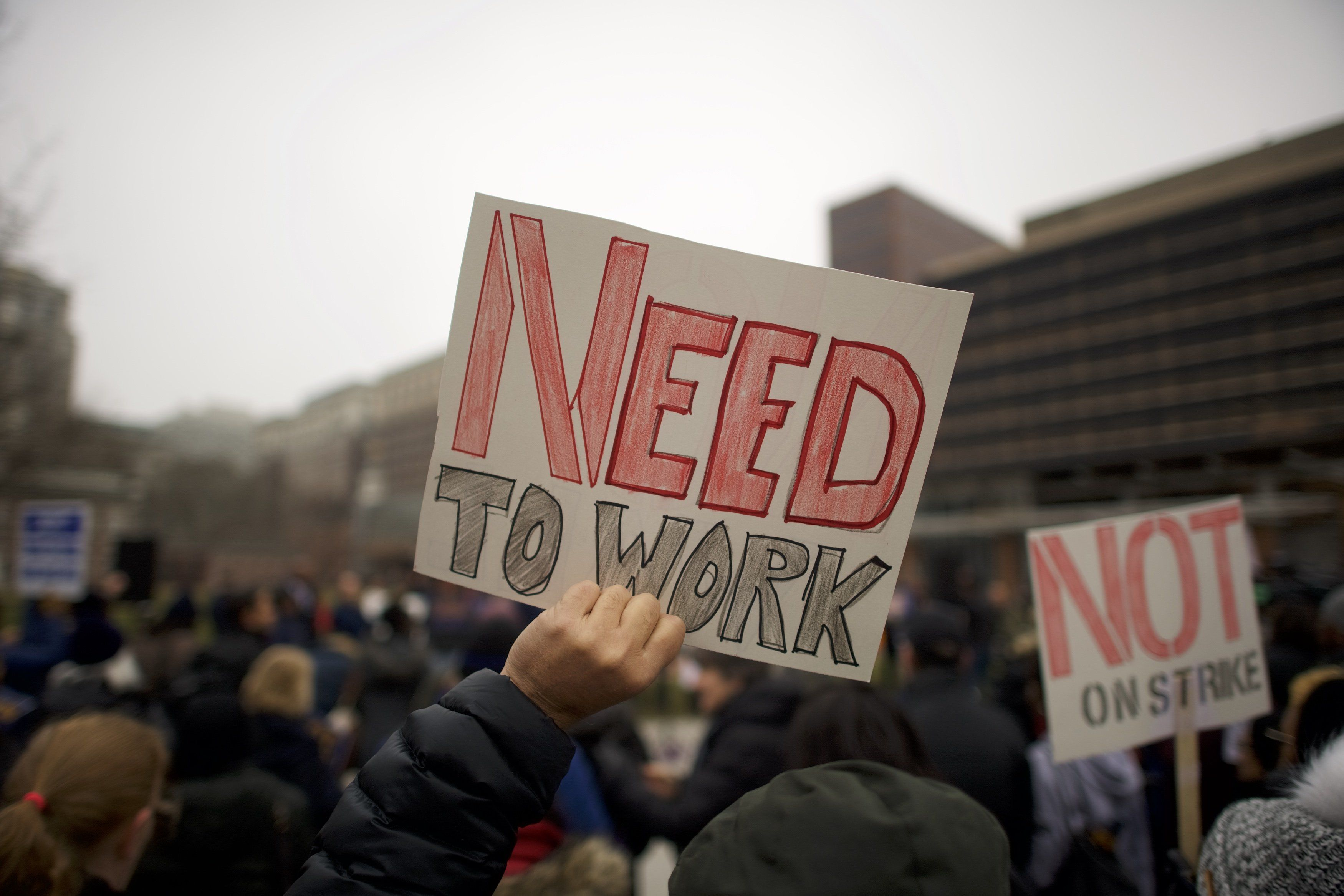Desperate federal workers are pulling money out of their