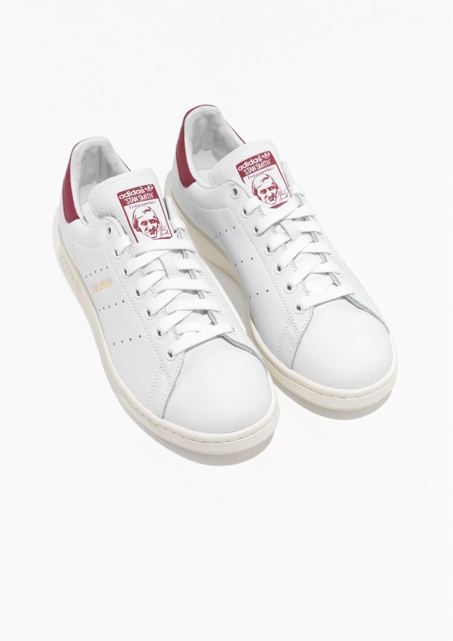 classic fit 6c712 0291b Other Stories image 2 of adidas Stan Smith Sneakers in White Red
