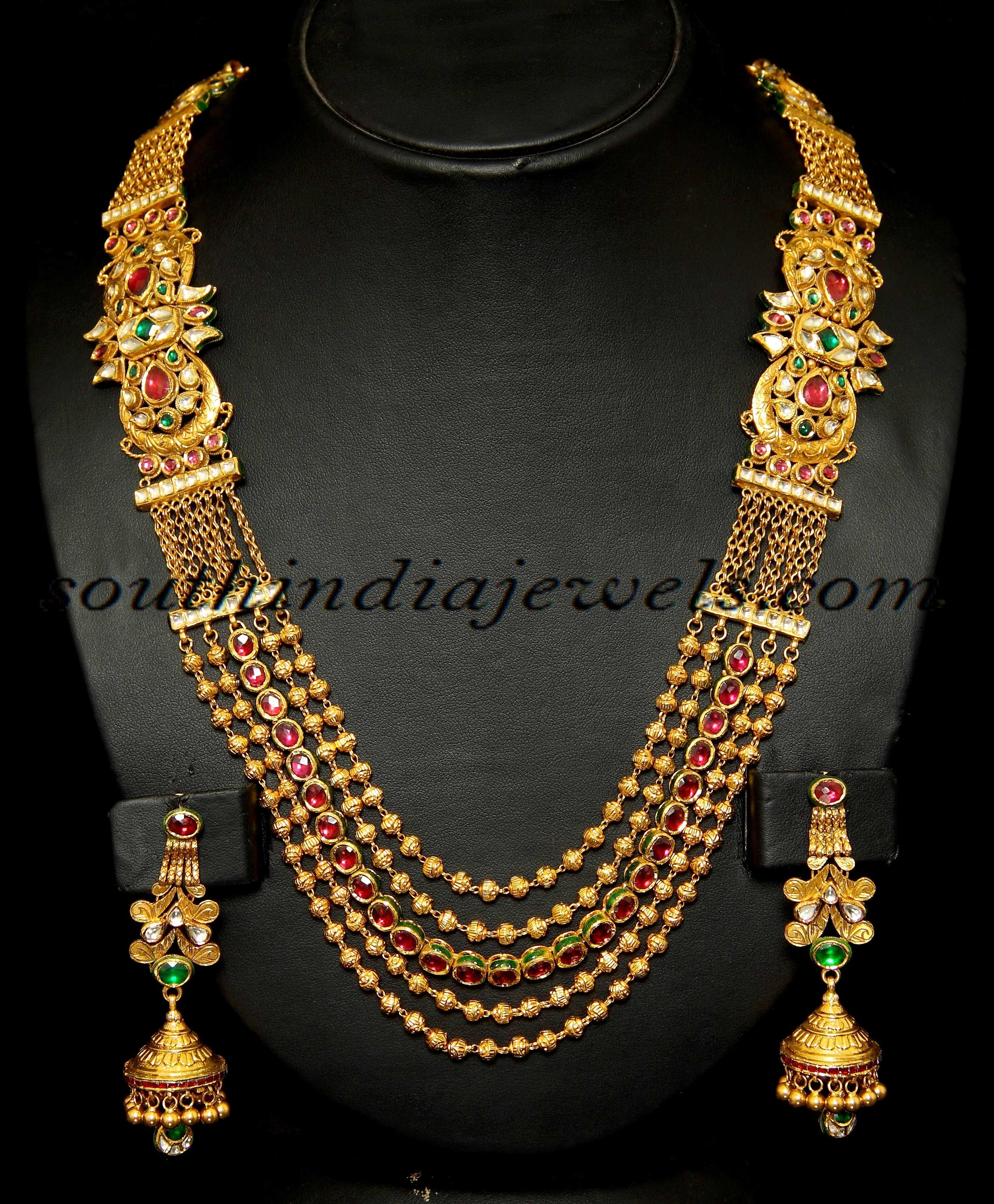 moti with set product gold mala antique necklace mybluepink