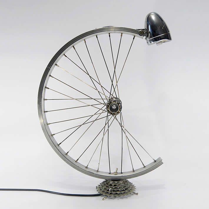 Bicycle Parts Desk Lamp By Bespoke Spokes Diy Lamp Lamp
