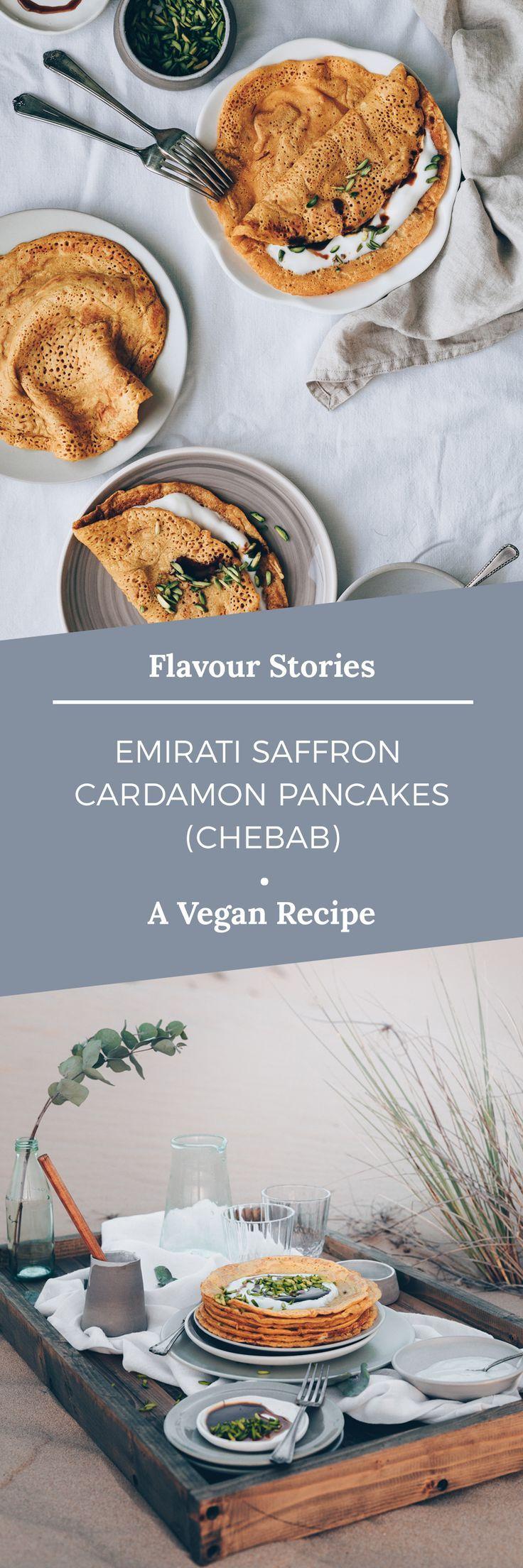 EMIRATI SAFFRON CARDAMON PANCAKES (Chebab)   - Blogger - Frühstück mal anders -