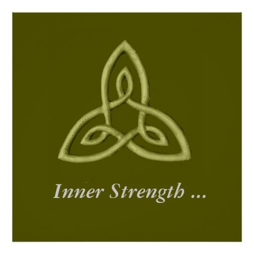 This Is A Celtic Symbol That Represents Inner Strength The Loops Represent Qualities Within