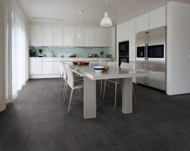 Ardesia pavimento a spacco naturale idee casa cucina kitchen porcelain tile e tiles - Piastrelle di ardesia ...