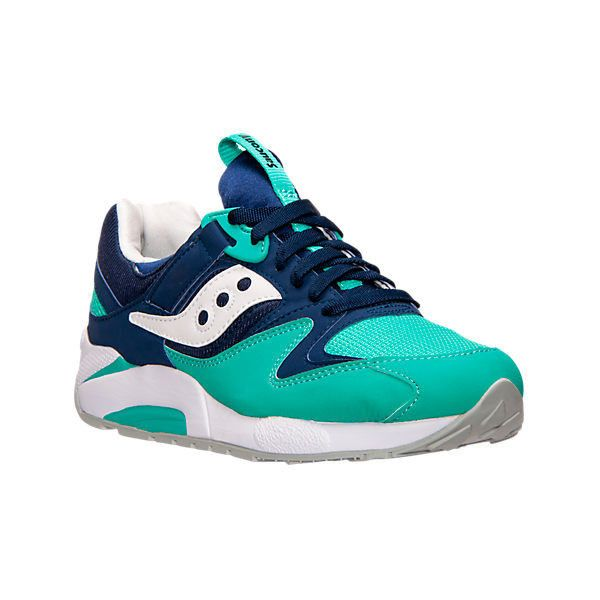 Men's Grid 9000 Casual Shoes, Blue (5.750 RUB) ❤ liked on Polyvore  featuring men's fashion, men's shoes, men's sneakers, blue, mens sneakers, saucony  mens ...