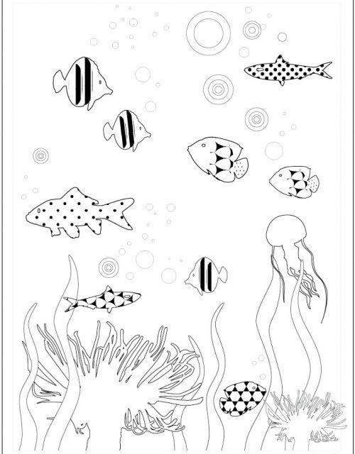 Meerjungfrau Malvorlage Einfach