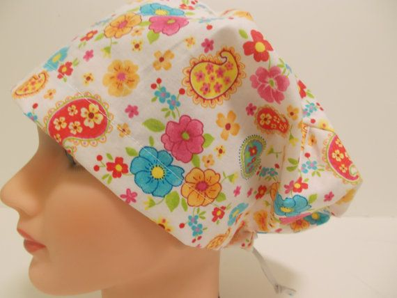 Euro Style Adjustable Pixie Scrub Hat by bluebird053 on Etsy