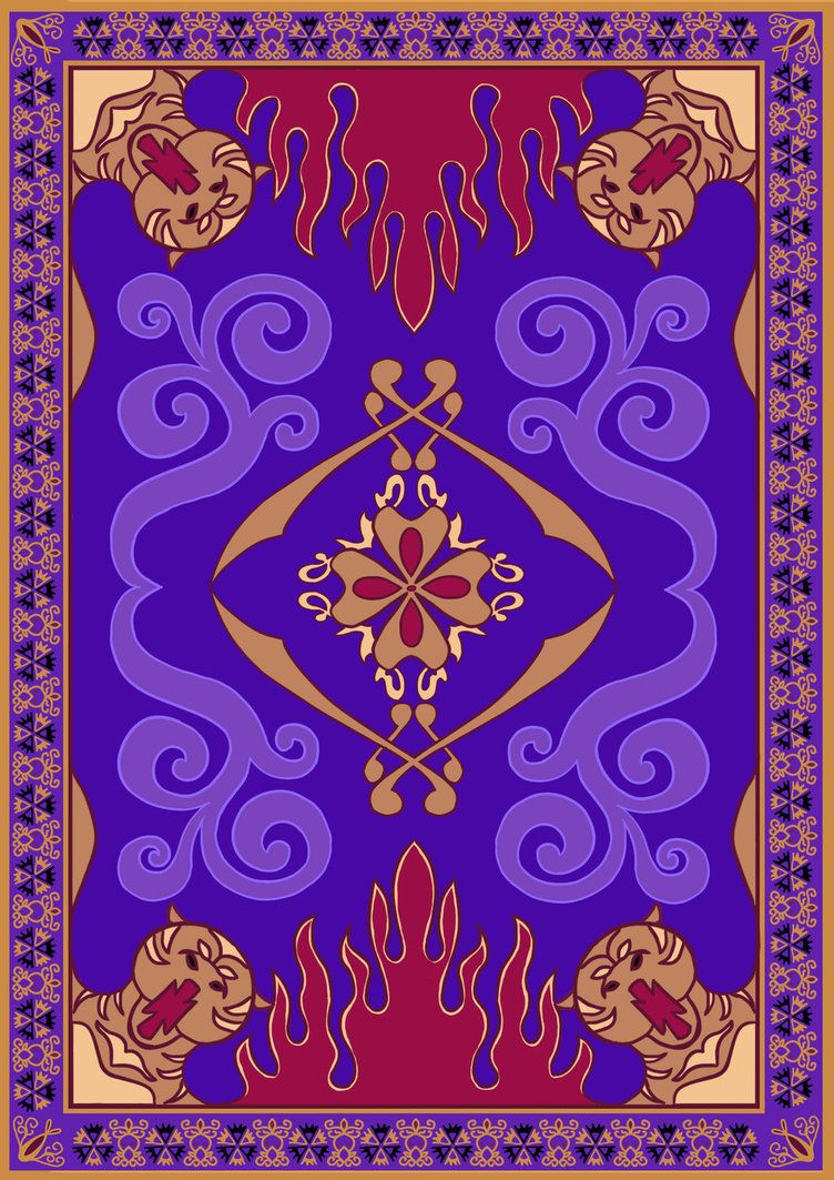 So basically, I was getting super frustrated because I could not find ONE flat/rectangular image of the Magic Carpet from Aladdin.