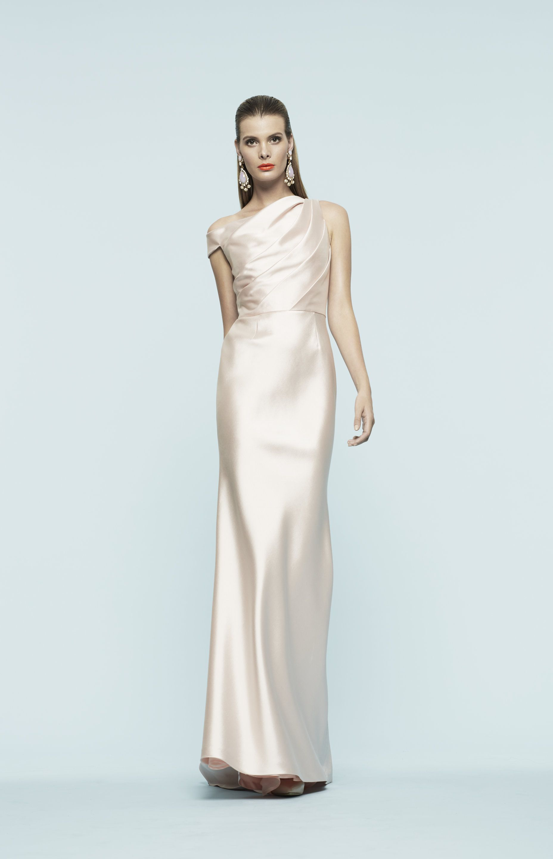 714bdc9f Sleek blush evening gown by Frascara. | Evening Gowns Fit For a Fête ...