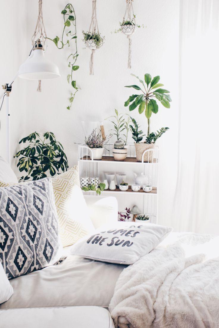 Pflanzenecke im Wohnzimmer   Schlafzimmer einrichten, Rauminspiration, Schlafzimmer deko