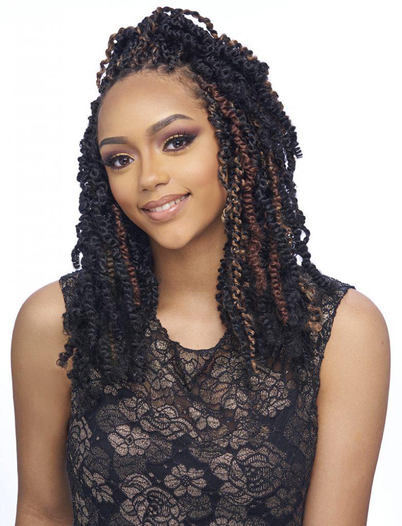 "Kima braid spring curl twist braid 8"" 4 pack deal"