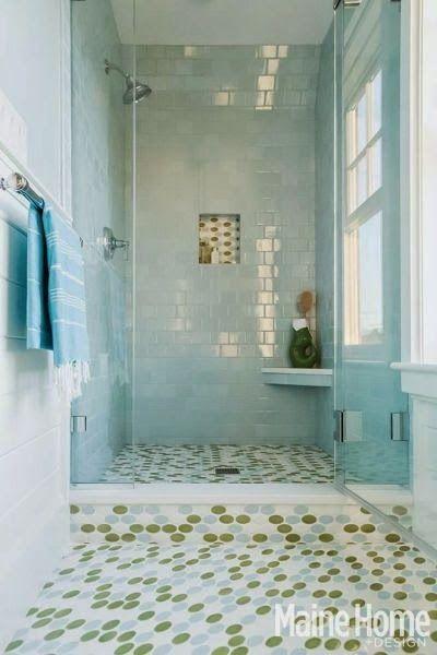 Blue Nautical Decor In An Elegant Maine Home Beach Theme Kitchen Bathrooms Remodel Dream Bathrooms