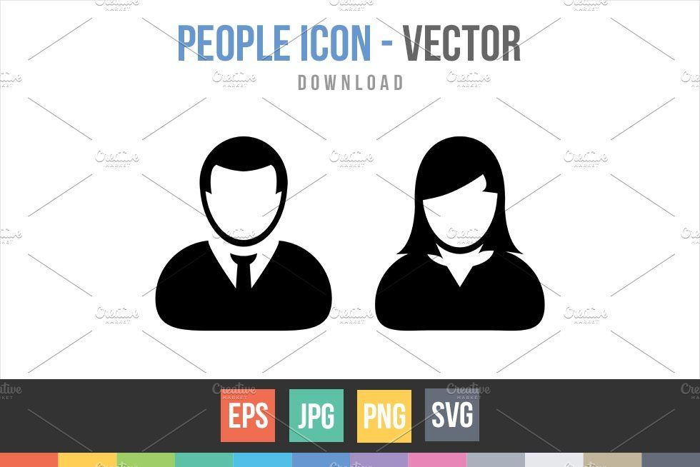 Male And Female Symbols Vector Male And Female Signs Female Symbol People Icon