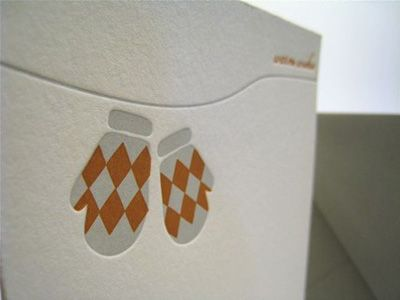 Letterpress Christmas cards.