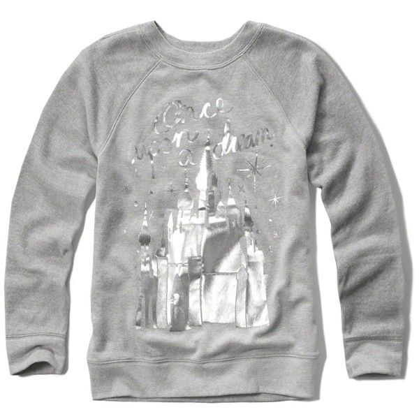 Abercrombie & Fitch disney graphic sweatshirt ($35) ❤ liked on Polyvore featuring tops, hoodies, sweatshirts, white, white sweat shirt, white sweatshirt, abercrombie fitch top, graphic tops and sweat shirts
