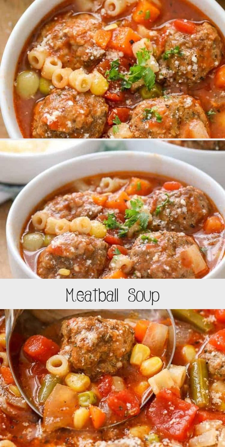 This easy meatball soup is one of our favorite winter recipes It is so warming and filling