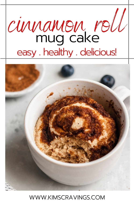 Cinnamon Roll Microwave Mug Cake | Recipe in 2020 | Mug ...