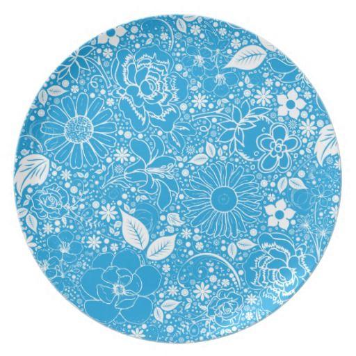 Botanical Beauties Light Blue DINNER PLATE  sc 1 st  Pinterest & Botanical Beauties Light Blue DINNER PLATE | Blue dinner plates