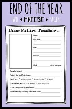 Dear Future Teacher Worksheet | Moving to 1st grade | Teacher ...