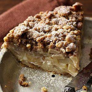 Walnut Streusel Sour Cream Apple Pie Recipe Sour Cream Apple Pie Apple Pie Recipes Apple Recipes