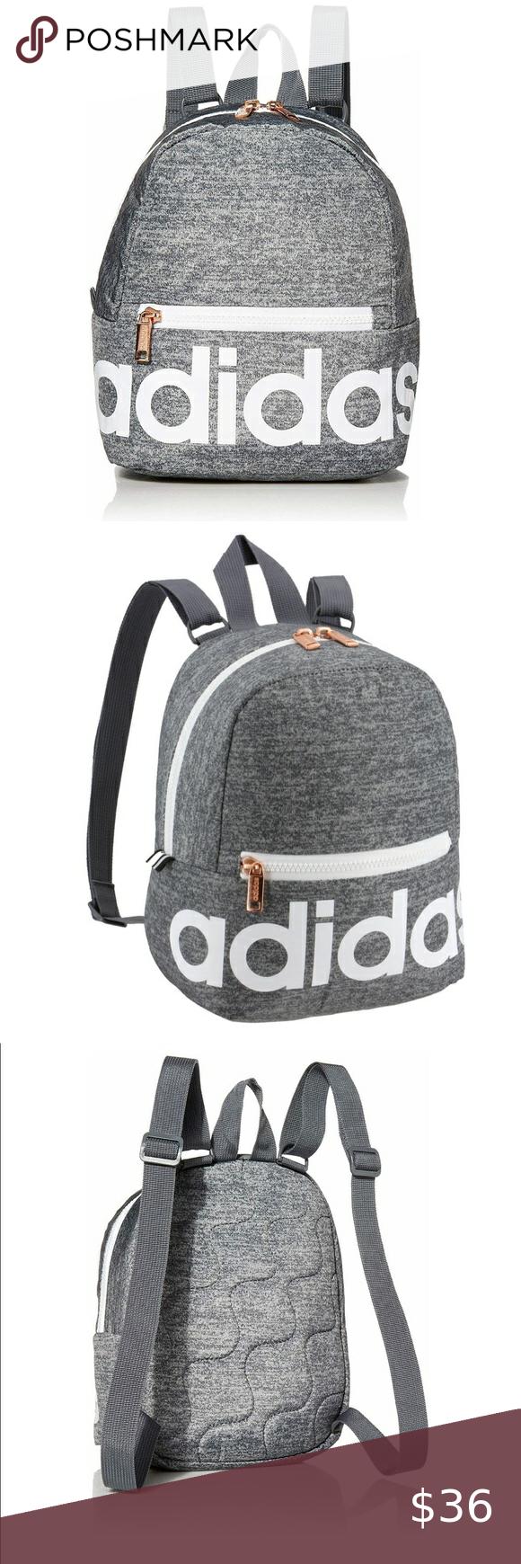 Adidas Jersey Onix/ White/ Rose Gold Mini Backpack | Mini backpack ...