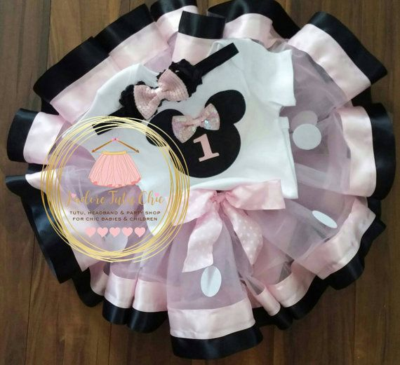 Minnie mouse birthday outfit 1st birthday by JAdoreTuTuChic