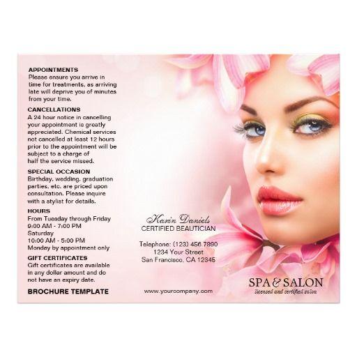 salon brochure