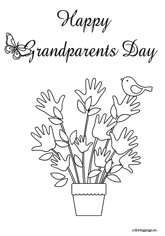 Happy grandparents day coloring page Grandparents Day