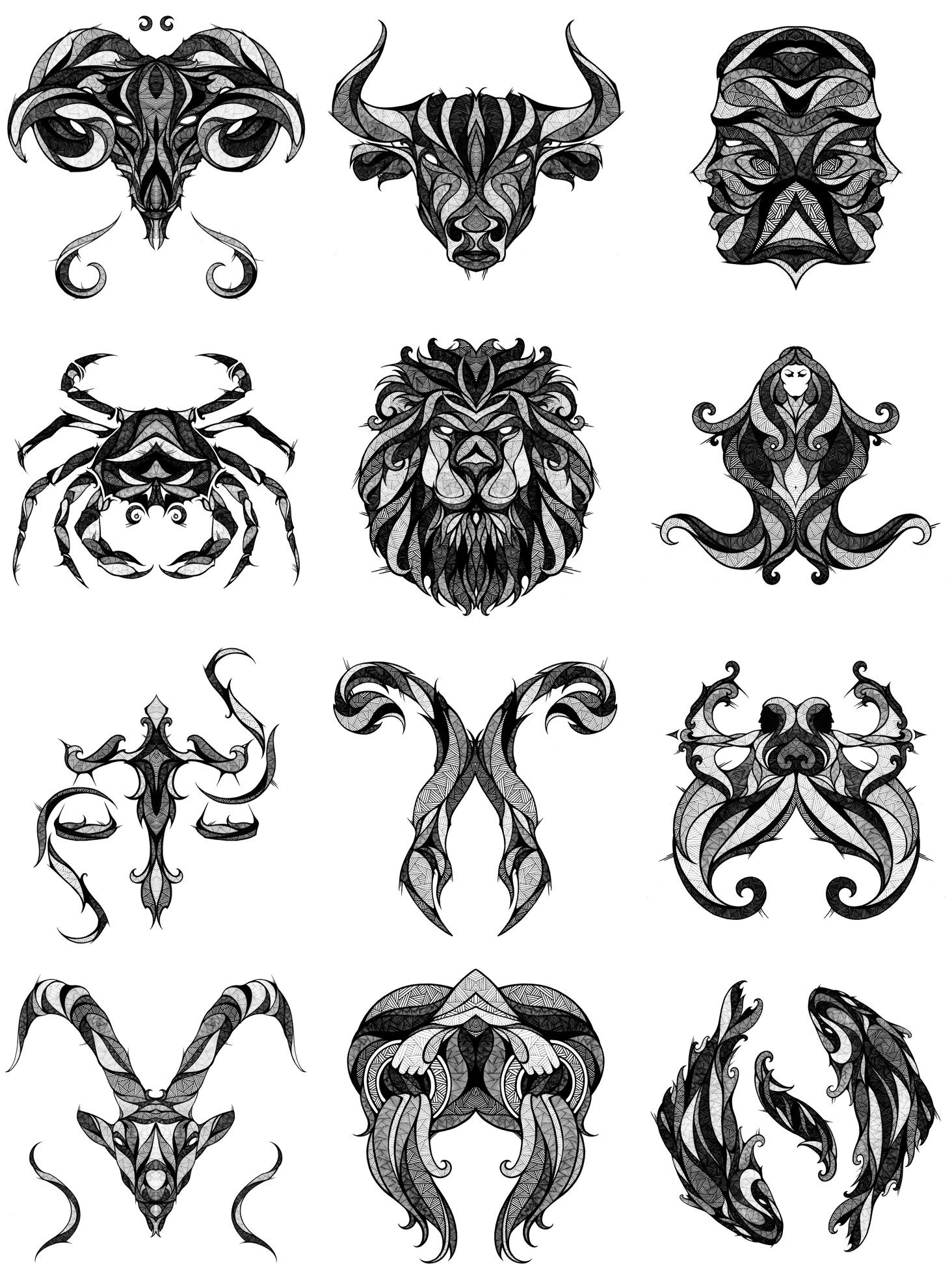 signs of the zodiac tattoo sternzeichen tattoos. Black Bedroom Furniture Sets. Home Design Ideas