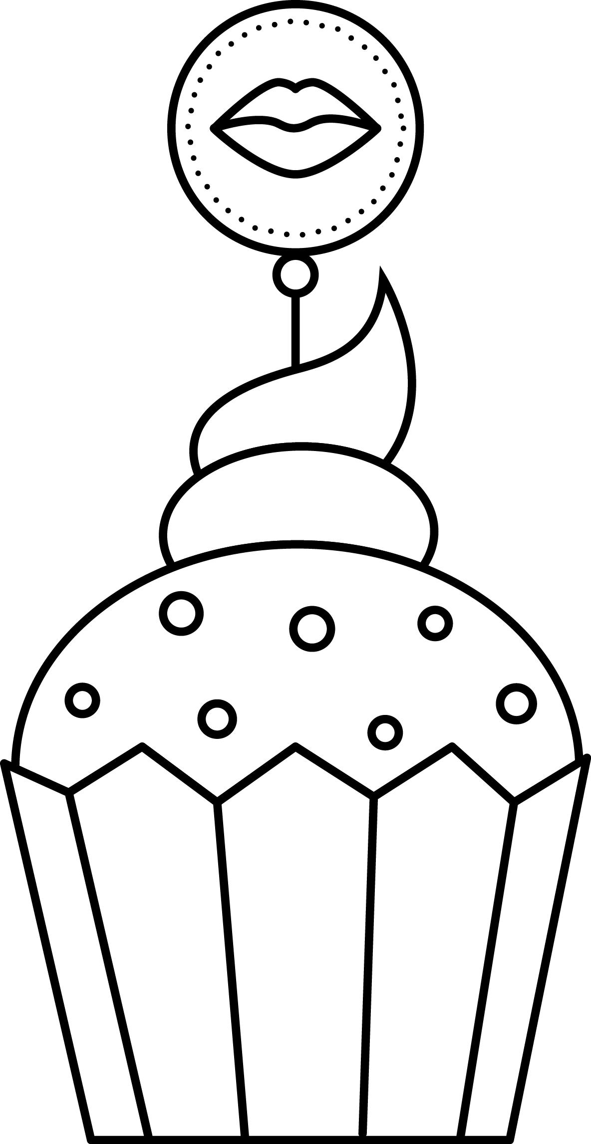 Cupcake | Blanco negro, Plantas y Imprimibles