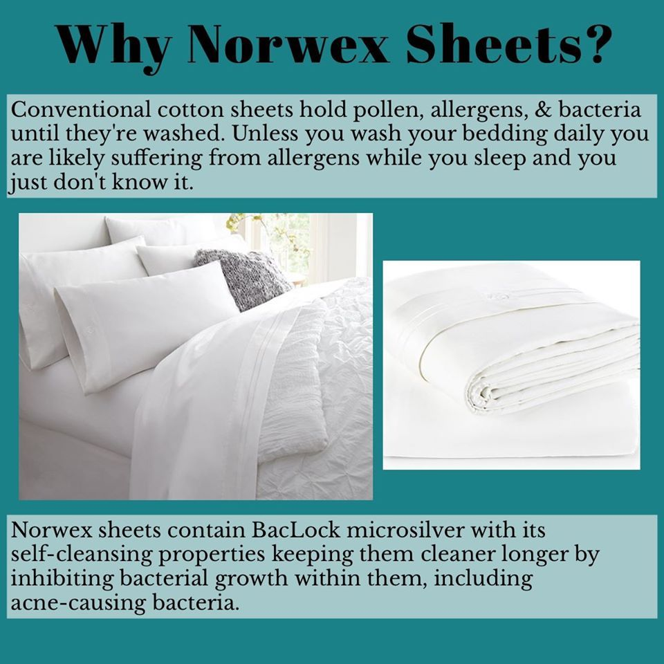 Norwex Sheets With Baclock Norwex Norwex Microfiber King Sheet Sets